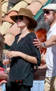 Brad Pitt and Angelina Jolie seen together on May 29th 2010 at a party with friends in Malibu California 3