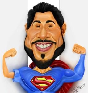 Mahmoud Shoukry as superman caricature