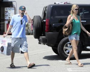 Bar Refaeli and Leonardo DiCaprio spotted together on June 1st 2010 as they went shopping at Fred Segal in Hollywood 2