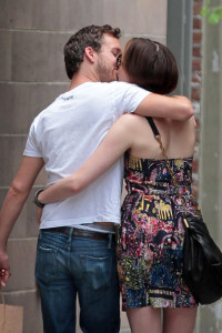 Anne Hathaway spotted with her boyfriend Adam Shulman on June 1st 2010 as they walk together in the West Village 2