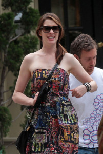 Anne Hathaway spotted with her boyfriend Adam Shulman on June 1st 2010 as they walk together in the West Village 1