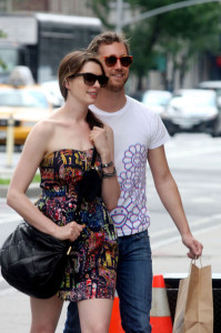 Anne Hathaway spotted with her boyfriend Adam Shulman on June 1st 2010 as they walk together in the West Village 6