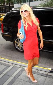 Paris Hilton spotted on May 27th 2010 as she was returning to her hotel after being on The View TV show in New York City 1