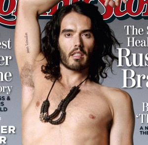 Russell Brand cover photo shoot  of June 2010 issue of the Rolling Stone Magazine 1