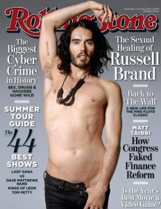 Russell Brand cover photo shoot  of June 2010 issue of the Rolling Stone Magazine 2