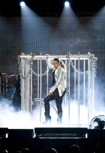Alicia Keys picture from her performance at the Palau Sant Jordi on June 2nd 2010 in Barcelona Spain 1