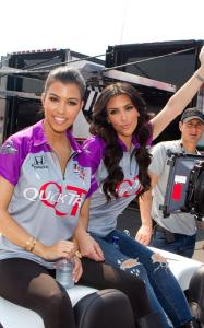 Kim Kardashian and her sister Kourtney at the 94th running of the Indianapolis 500 at the Indianapolis Motor Speedway on May 30th 2010 in Indiana 5