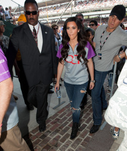 Kim Kardashian and her sister Kourtney at the 94th running of the Indianapolis 500 at the Indianapolis Motor Speedway on May 30th 2010 in Indiana 2