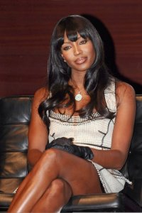 Naomi Campbell picture on June 1st 2010 as she presents the Official FIFA World Cup Trophy 1