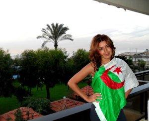 Amal Boshoshah May 2010 photo shoot wearing the flag