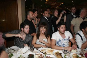 Star Academy 7th season finale celebration dinner photo of Jack with Rayan and Badria on June 4th 2010