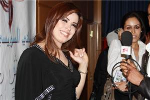 Amani Sweisi picture in June 2010 during her new album Launch titled ana mosh malak 3