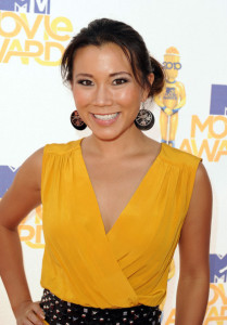 Angela Sun arrives at the 2010 MTV Movie Awards held at the Gibson Amphitheatre on June 6th 2010 at Universal Studios in California 2