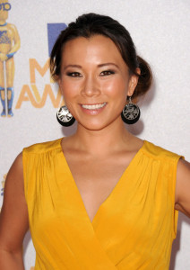 Angela Sun arrives at the 2010 MTV Movie Awards held at the Gibson Amphitheatre on June 6th 2010 at Universal Studios in California 1