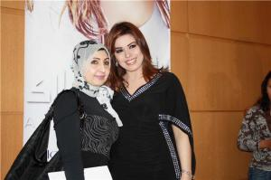 Amani Sweisi picture in June 2010 during her new album Launch titled ana mosh malak 8