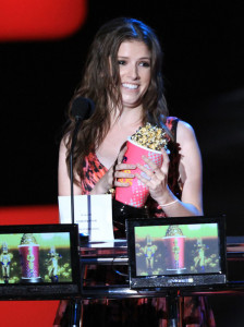 Anna Kendrick on stage during the 2010 MTV Movie Awards held at the Gibson Amphitheatre on June 6th 2010 at Universal Studios in California 2