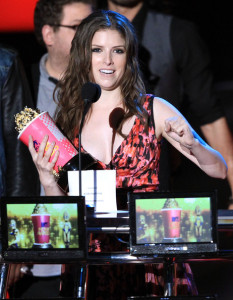 Anna Kendrick on stage during the 2010 MTV Movie Awards held at the Gibson Amphitheatre on June 6th 2010 at Universal Studios in California 1