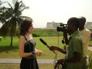 Hanaa Idrisi picture from a recent TV interview 1