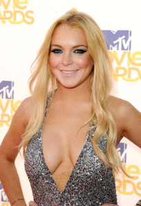 Lindsay Lohan arrives on the red carpet of the 2010 MTV Movie Awards held at the Gibson Amphitheatre on June 6th 2010 at Universal Studios in California 7