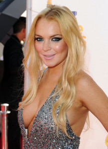 Lindsay Lohan arrives on the red carpet of the 2010 MTV Movie Awards held at the Gibson Amphitheatre on June 6th 2010 at Universal Studios in California 1