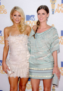 Paris Hilton and Nicky Hilton seen arriving together to the 2010 MTV Movie Awards held at the Gibson Amphitheatre on June 6th 2010 at Universal Studios in California 3