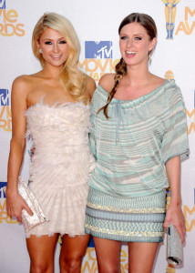 Paris Hilton and Nicky Hilton seen arriving together to the 2010 MTV Movie Awards held at the Gibson Amphitheatre on June 6th 2010 at Universal Studios in California 2