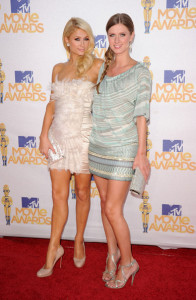 Paris Hilton and Nicky Hilton seen arriving together to the 2010 MTV Movie Awards held at the Gibson Amphitheatre on June 6th 2010 at Universal Studios in California 1