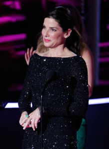 Sandra Bullock on stage during the 2010 MTV Movie Awards held at the Gibson Amphitheatre on June 6th 2010 at Universal Studios in California 6