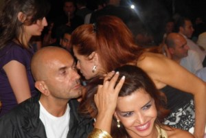 Star Academy 7 final prime after Dinner party picture of Rola Saad the manager of the academy