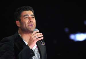 pictrure of the Star Academy 7 prime 16th finale during the performance of singer Wael Kfoury on stage 5