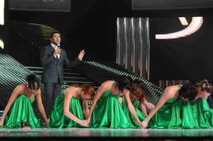 pictrure of the Star Academy 7 prime 16th finale during the performance of singer Wael Kfoury on stage 2