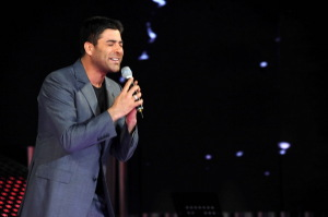 pictrure of the Star Academy 7 prime 16th finale during the performance of singer Wael Kfoury on stage 1