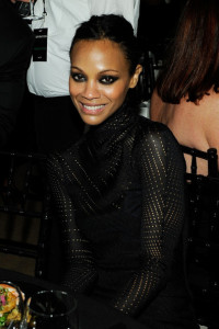 Zoe Saldana at the 2010 amfAR New York Inspiration Gala held on June 3rd 2010 at The New York Public Library 6