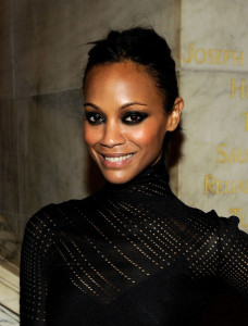 Zoe Saldana at the 2010 amfAR New York Inspiration Gala held on June 3rd 2010 at The New York Public Library 3