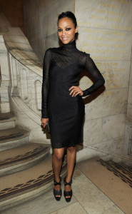 Zoe Saldana at the 2010 amfAR New York Inspiration Gala held on June 3rd 2010 at The New York Public Library 2