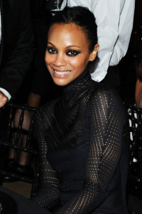 Zoe Saldana at the 2010 amfAR New York Inspiration Gala held on June 3rd 2010 at The New York Public Library 5