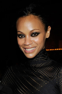 Zoe Saldana at the 2010 amfAR New York Inspiration Gala held on June 3rd 2010 at The New York Public Library 4