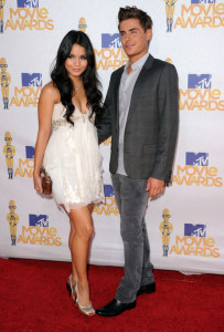 Zac Efron and Vanessa Hudgens arrive at the 2010 MTV Movie Awards held at the Gibson Amphitheatre on June 6th 2010 at Universal Studios in California 3