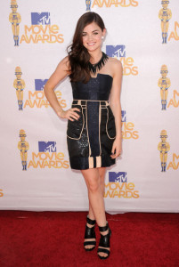 Lucy Hale arrives at the 2010 MTV Movie Awards held at the Gibson Amphitheatre on June 6th 2010 at Universal Studios in California 4