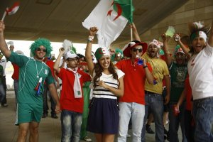 Amal boshoshah picture while filming her new Algeria football fan single 2