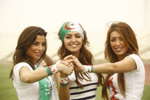 Amal boshoshah picture while filming her new Algeria football fan single 1
