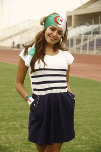 Amal boshoshah picture while filming her new Algeria football fan single 3