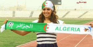 Amal boshoshah picture while filming her new Algeria football fan single 4