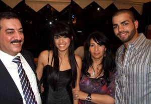 Rahma Ahmed Siba3i picture after star academy season seven at the finale prime dinner party with Mohamad Ramadan and her mother