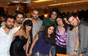 Rahma Ahmed Siba3i picture after star academy season seven at the finale prime dinner party with Mohamad Ramadan and Abdul Aziz jack hadad sultan and zeina aftimos