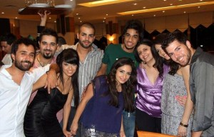Rahma Ahmed Siba3i picture after star academy season seven at the finale prime dinner party with Mohamad Ramadan with jack haddad and sultan and abdul aziz and zeina aftimos