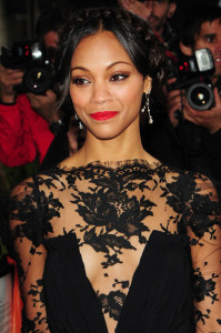 Zoe Saldana arrives at the 2010 Glamour Magazines Women of The Year Awards held on June 8th 2010 at Berkeley Square gardens in London 3