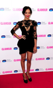 Zoe Saldana arrives at the 2010 Glamour Magazines Women of The Year Awards held on June 8th 2010 at Berkeley Square gardens in London 4