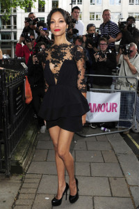 Zoe Saldana arrives at the 2010 Glamour Magazines Women of The Year Awards held on June 8th 2010 at Berkeley Square gardens in London 1