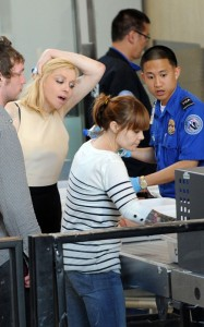 Courtney Love seen as at a security check in LAX Airport on June 8th 2010 in Los Angeles 2